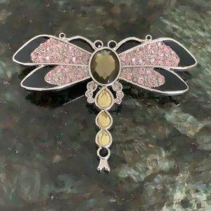 LIA SOPHIA Glitterbug Dragonfly Crystal Pin Brooch